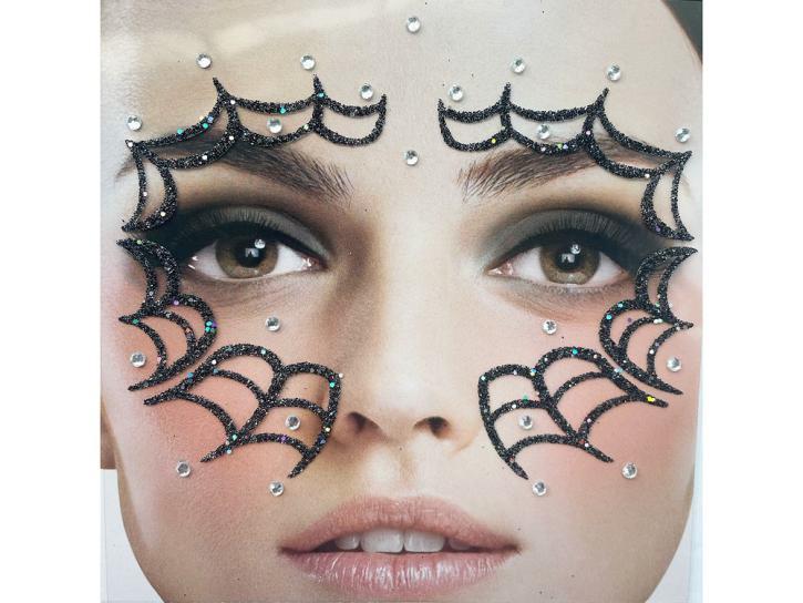 Gesichts-Tattoo Spinnennetz