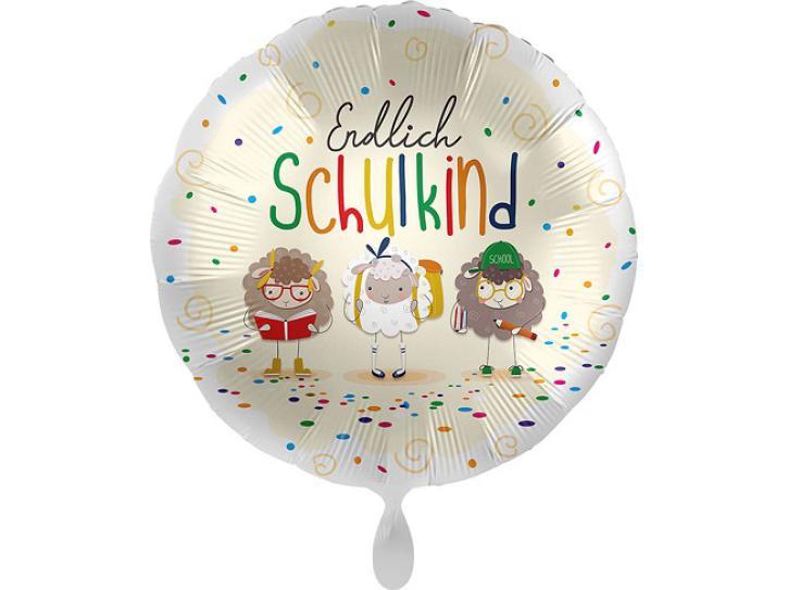 Folienballon Endlich Schulkind Schafe