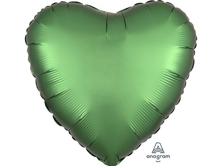 Folienballon Herz grün matt