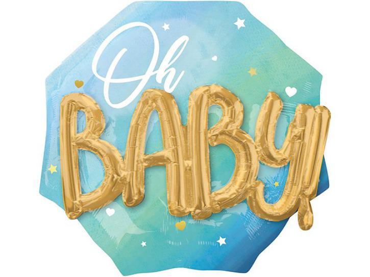 Folienballon Blue Baby Boy 3D