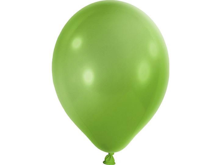 Luftballon metallic apfelgrün 20 Stk.