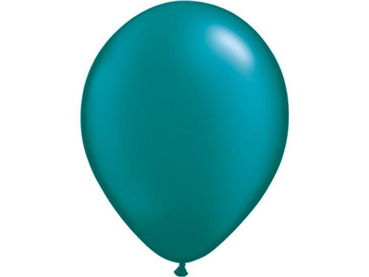 Luftballon metallic dunkel türkis 20 Stk.