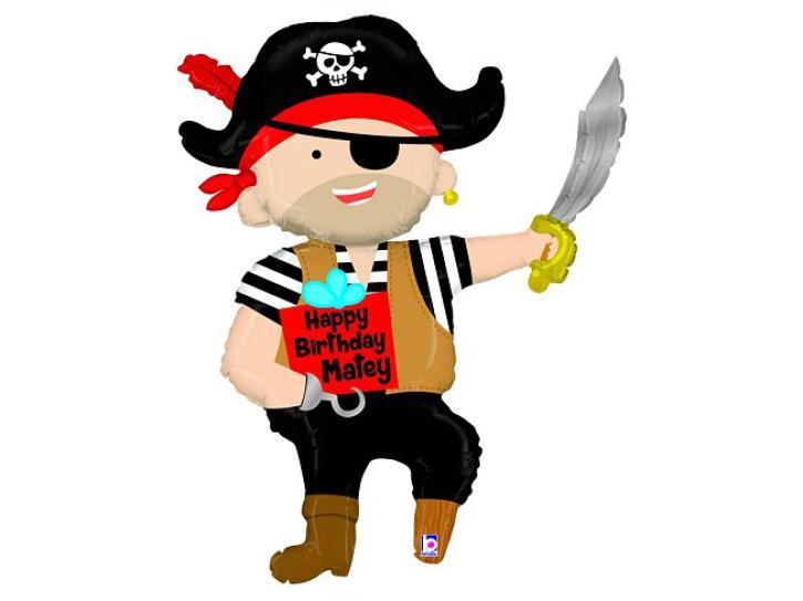 Folienballon Pirat Happy Birthday 44