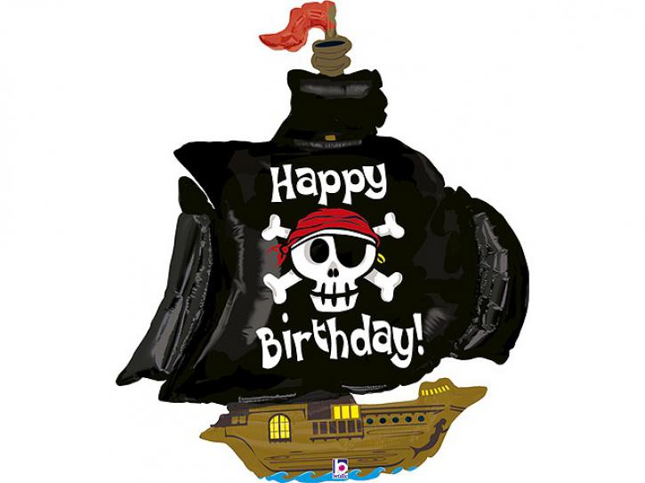 Folienballon Piratenschiff Happy Birthday 46
