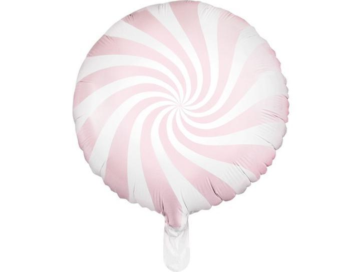 Folienballon Candy Swirl rosa/weiß