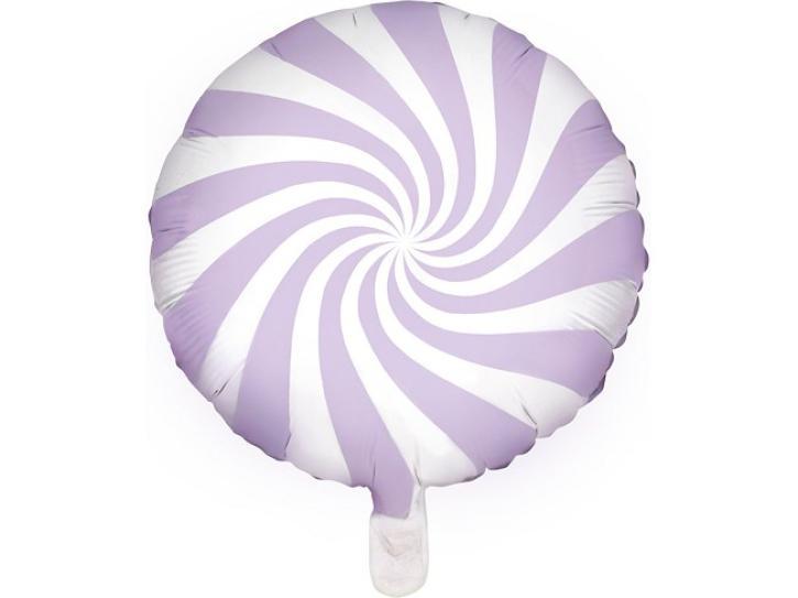Folienballon Candy Swirl flieder/weiß