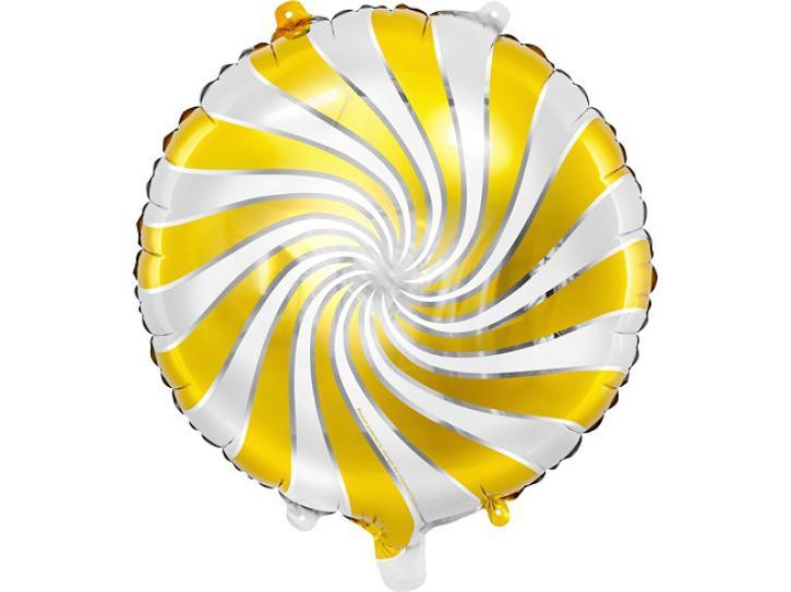 Folienballon Candy Swirl gold/silber/weiß