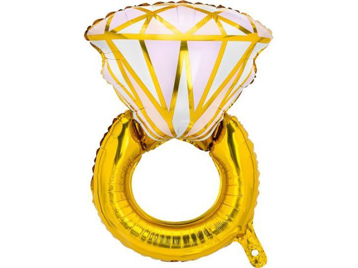 Folienballon Diamantring gold