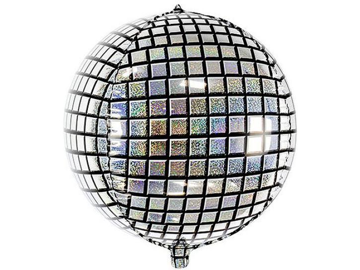 Folienballon Ball Discokugel
