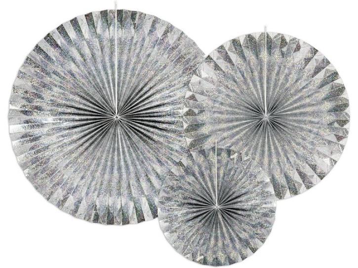 Dekofächer holografisch 3 Stk