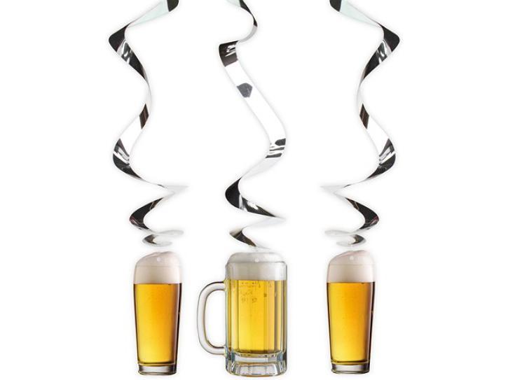 Dekospiralen Bier Party 3 Stk.