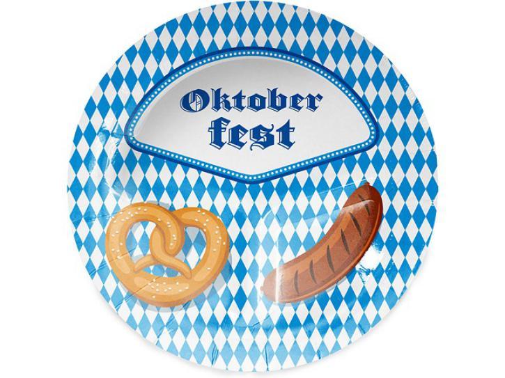 Teller Oktoberfest Bayern 8 Stk.