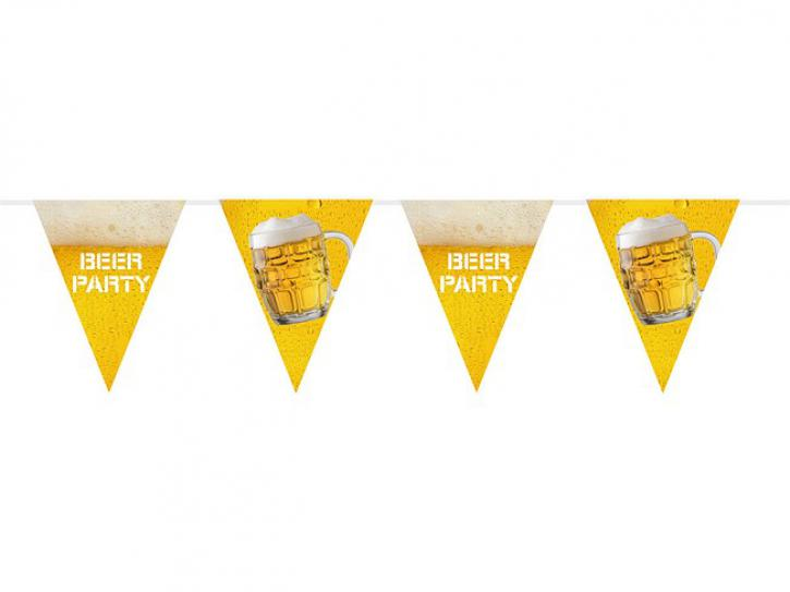 Wimpelkette Beerparty 10m