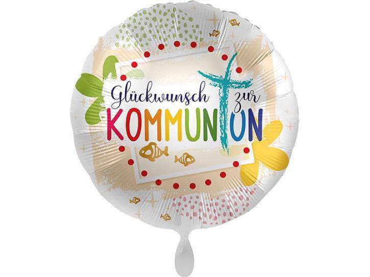 Folienballon Kommunion Glückwunsch 43 cm