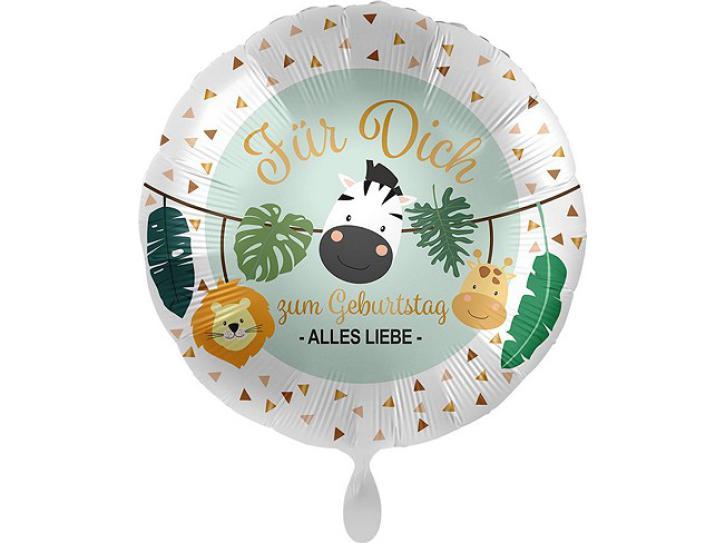 Folienballon Jungle Friends-Für Dich 43 cm