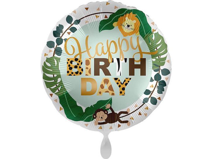 Folienballon Jungle Friends- Happy Birt 43 cm