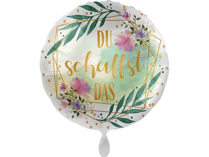 Folienballon Du schaffst das 43 cm