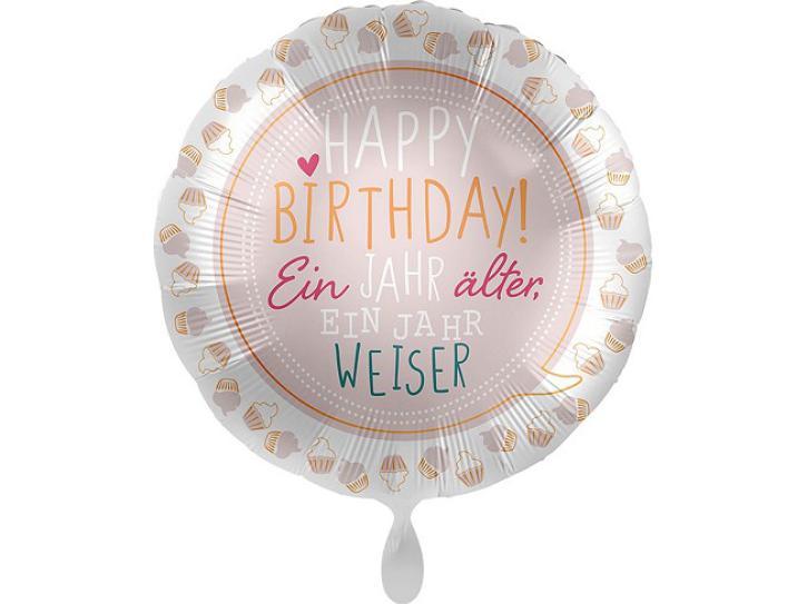 Folienballon Birthday Cupcakes 43 cm