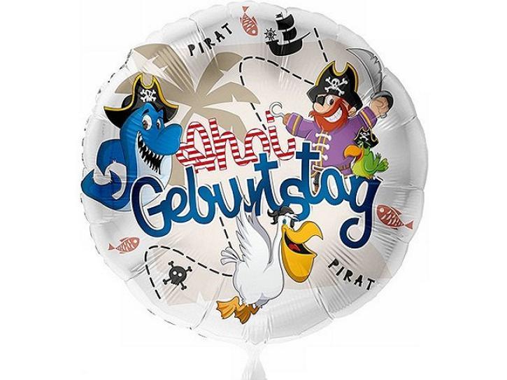Folienballon Geburtstag Pirat Ahoi 43 cm