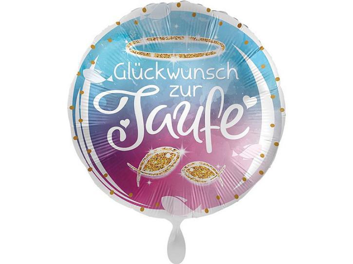 Folienballon Taufe Glückwunsch 43 cm