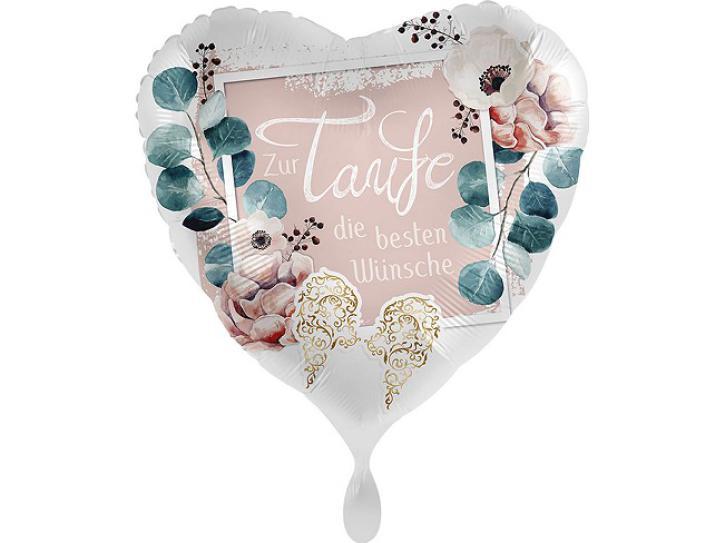 Folienballon Taufe Blüten 43 cm