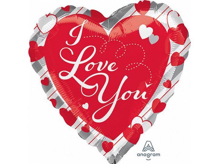 Folienballon Herz Love Red Heart 43cm