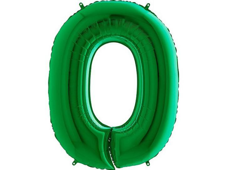 Folienballon Zahl 0 grün