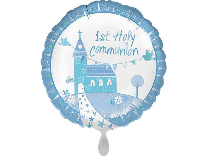 Folienballon Communion Church blue