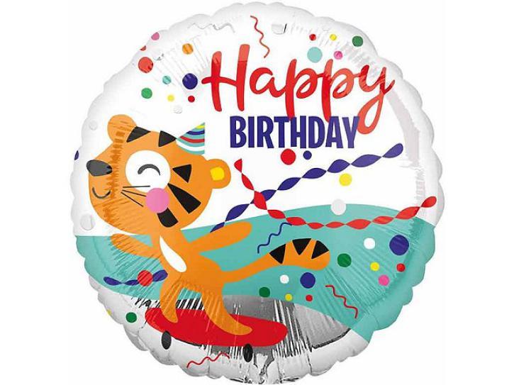 Folienballon Happy Tiger Geburtstag 43cm