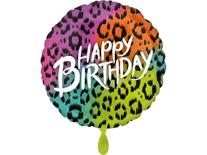 Folienballon Happy Birthday wild Party XXL