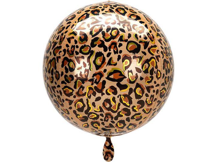Folienballon Orbz  Leopard 16