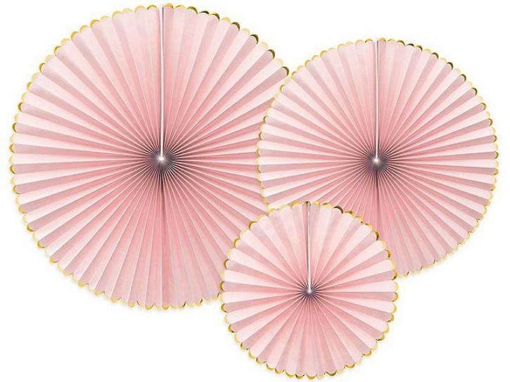 Dekofächer rosa 3 Stk.