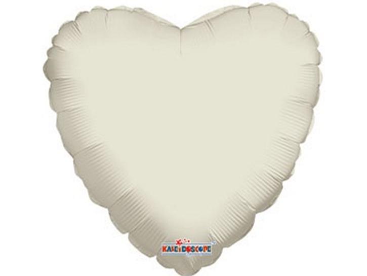 Folienballon Herz elfenbein 45cm
