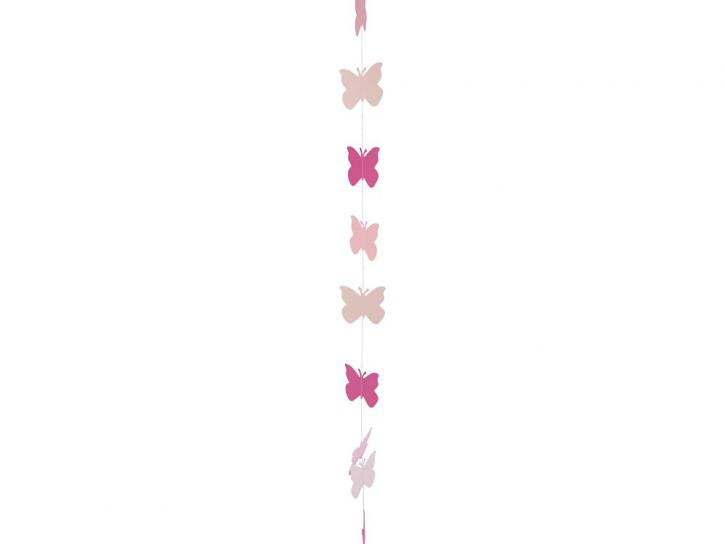 Girlande Schmetterlinge 195 cm