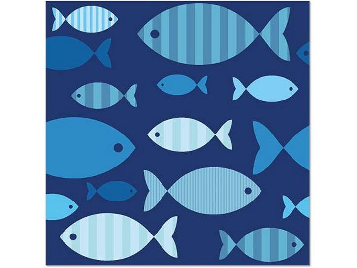 Servietten Fische blau 20 Stück
