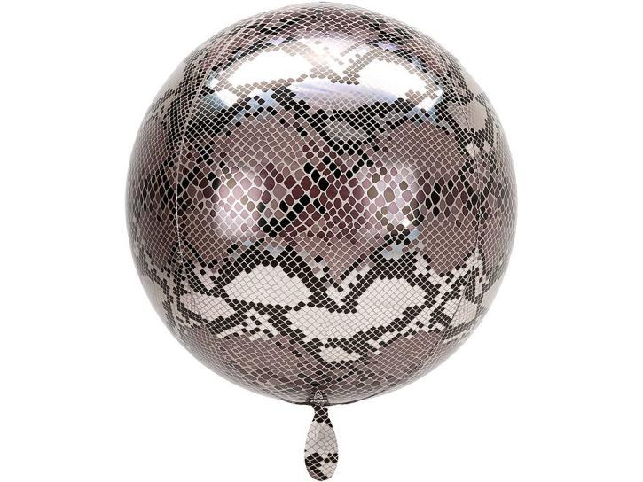 Folienballon Orbz Schlangenprint 16