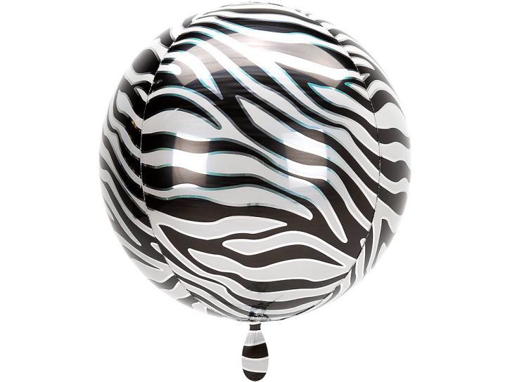 Folienballon Orbz Zebra 16