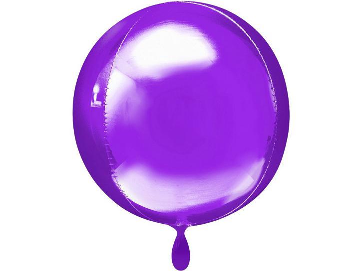 Folienballon Orbz lila 16