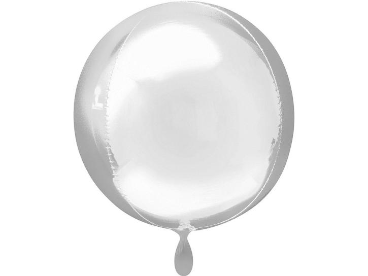Folienballon Orbz silber 16