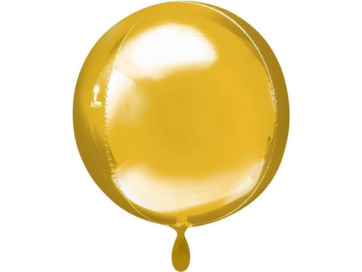 Folienballon Orbz gold 16