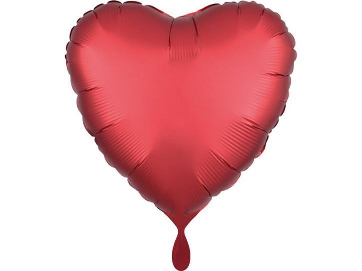 Folienballon Herz rot matt