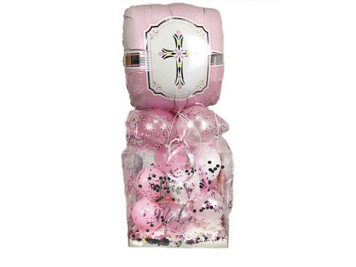 Geschenkbox DIY Taufe rosa