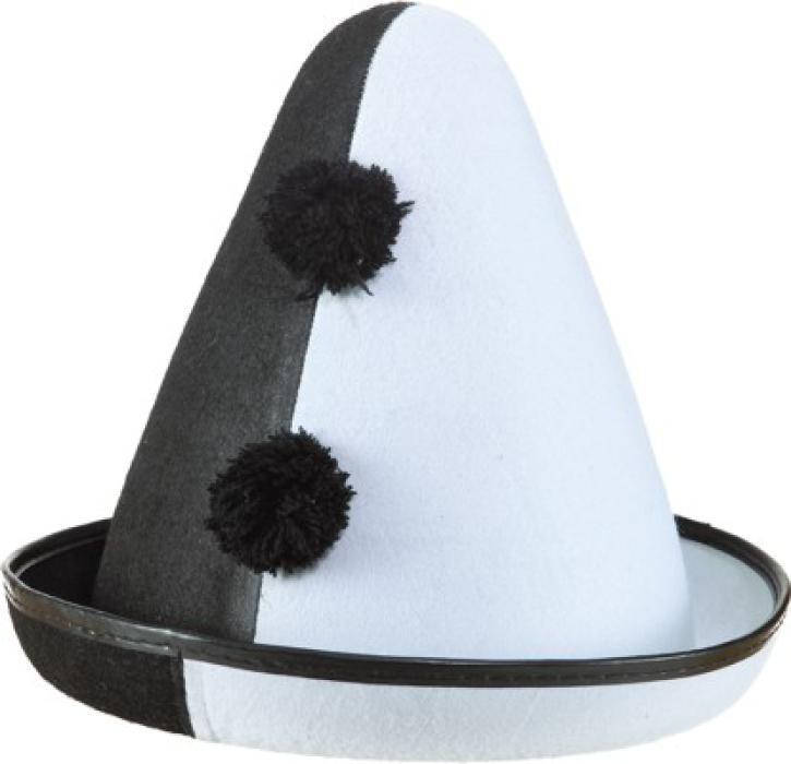 Hut Pierrot schwarz/weiß KW 59
