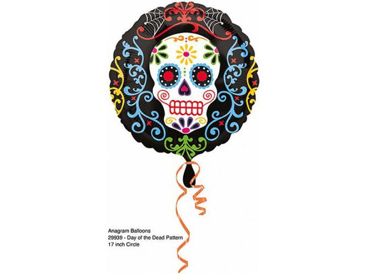 Folienballon Day of the Dead Totenkopf