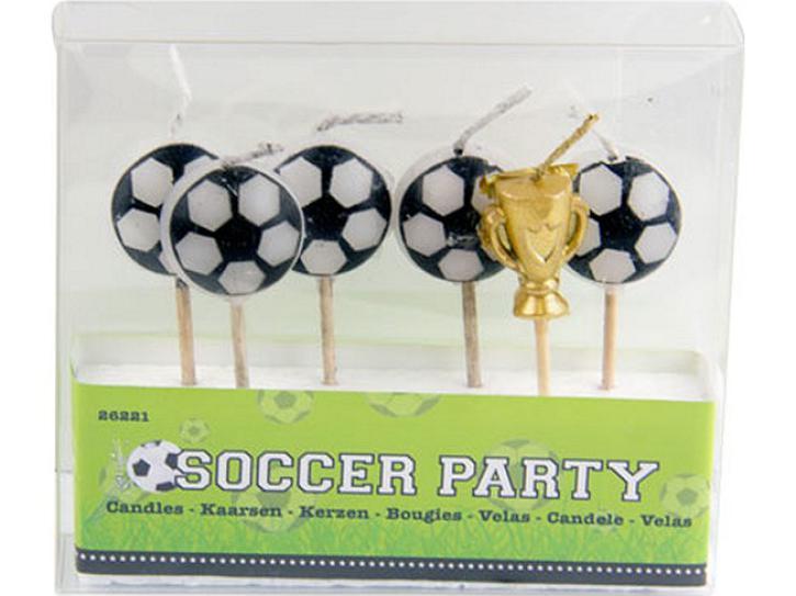 Kerzen Fußball 6 Stk.