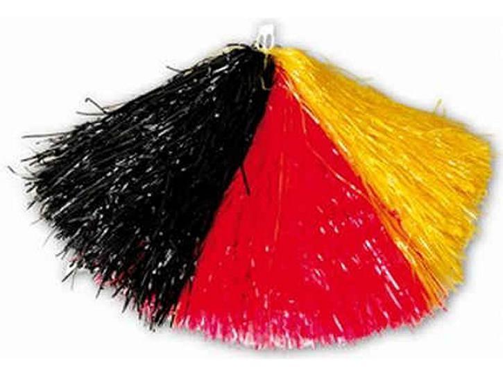 Cheerleader Pompon schwarz/rot/gelb