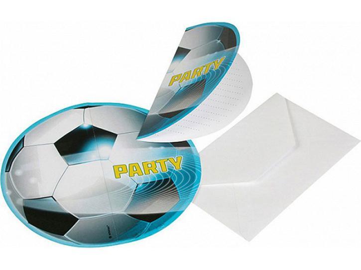 Einladungskarten Fußball 6 Stk.