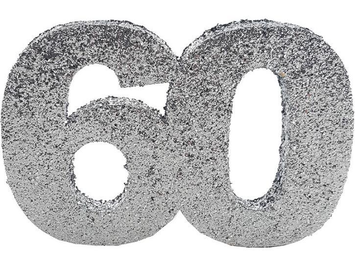Styropor-Glimmerzahl 60 silber