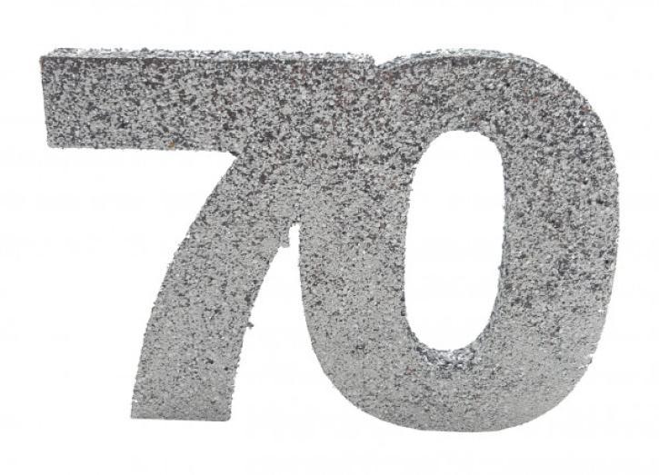 Styropor-Glimmerzahl 70 silber