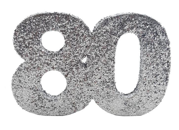 Styropor-Glimmerzahl 80 silber